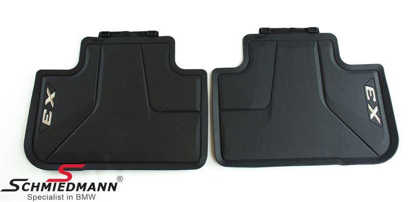 Floormats -All weather- rear, black - original BMW