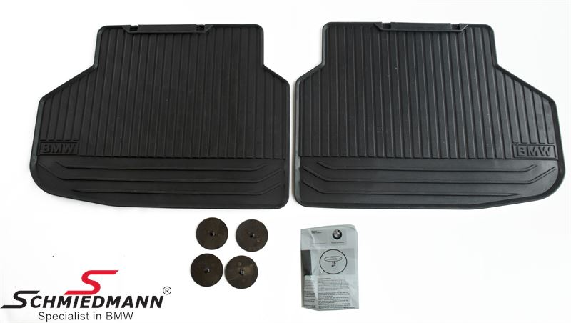 Floormats -All weather- rear, black - original BMW