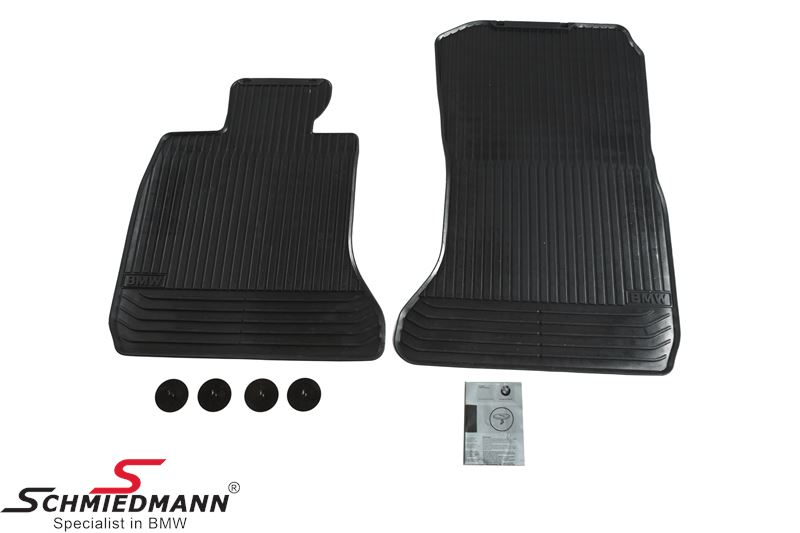 Floormats -All weather- front, black - original BMW
