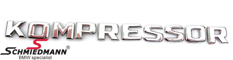 "Emblem self adhesive ""Kompressor"" 22,8 x 1,9CM"
