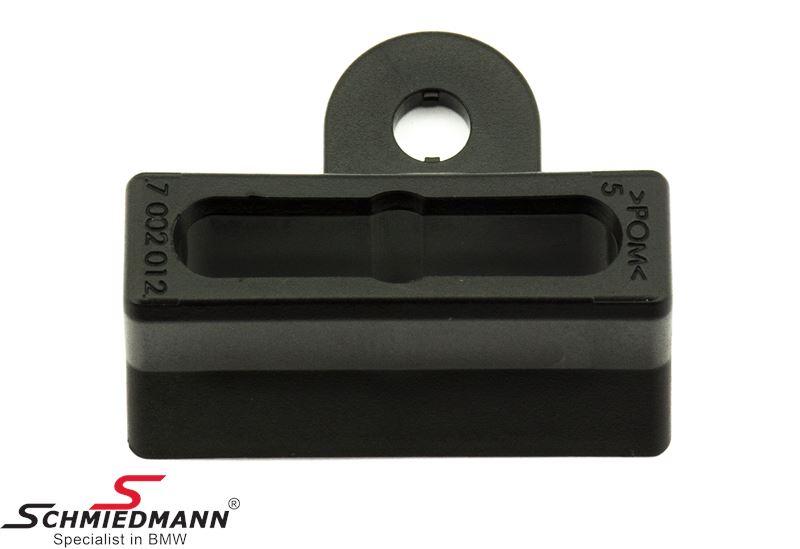 Dreje-sikring til låsegæk på fronthjelm