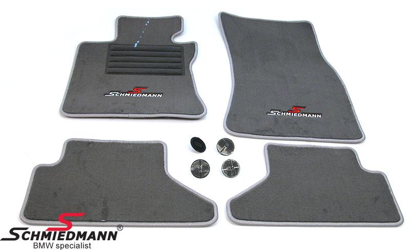 BMW E64 Fussmatten vorne/hinten original Schmiedmann -Sport Edition- grau