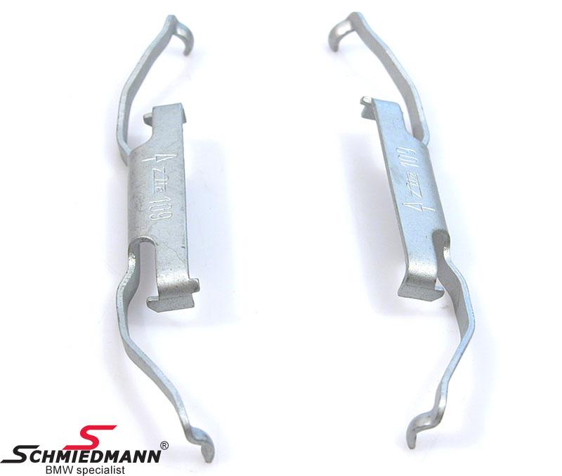 Haltefedern (2 Stück/1 Achse) für Bremssattel vorne