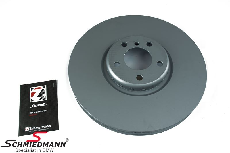 Bremseskive H.-side 385x36MM - ventileret, bi-metal 2 delt, original -ZIMMERMANN- Germany