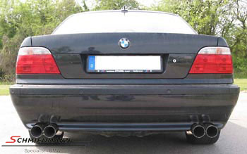 4 pipe Eisenmann sportexhaust in 750I look 4X83MM tailpipes