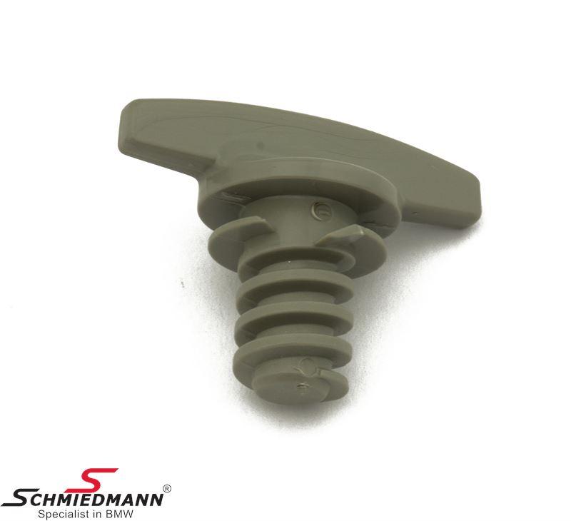 Lock screw for tool set trunk lid