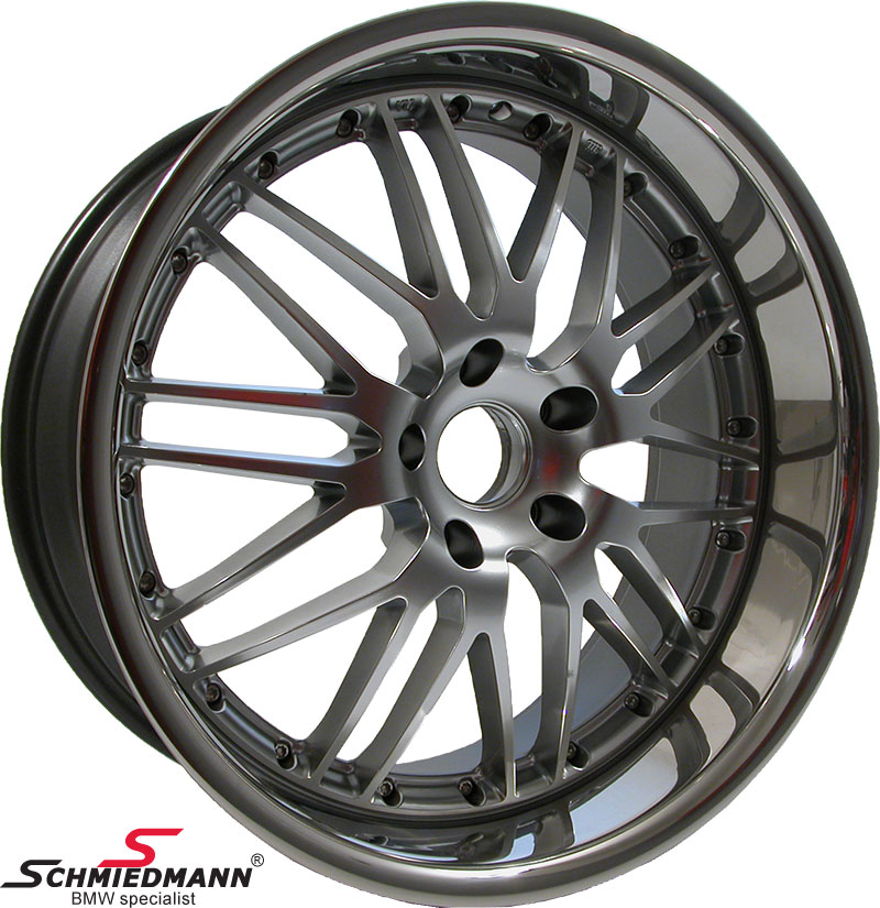 "20"" GP German Perfection rim 9,5X20 with polished steel lip (only rear)"