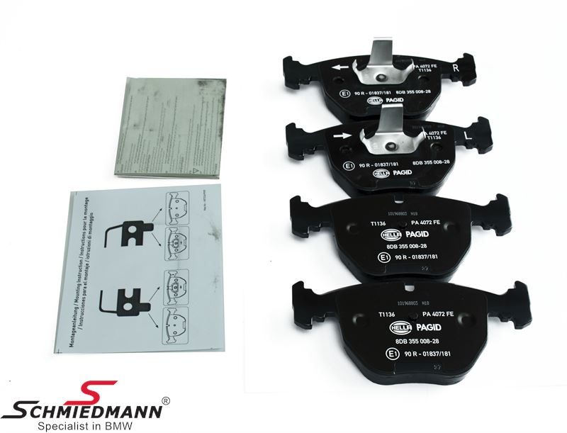 Brake pads front, original Hella-Pagid
