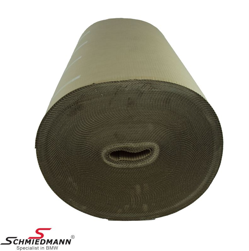 Corrugated roll 1x70M brown one layer