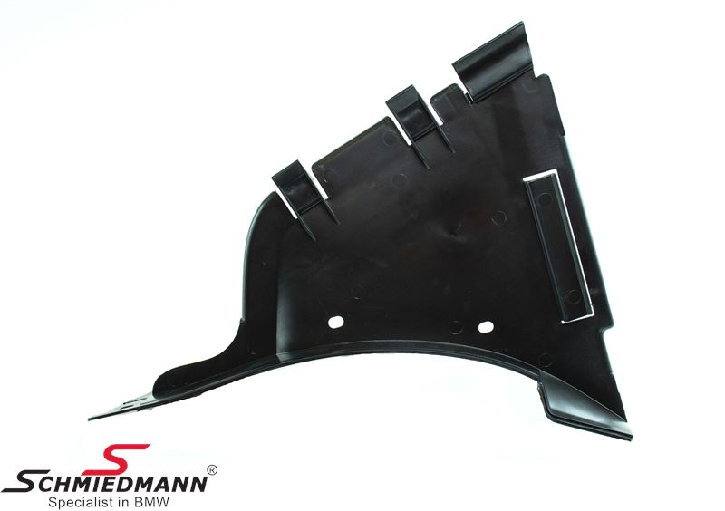 Plastic undercarriage cover front/outer left side