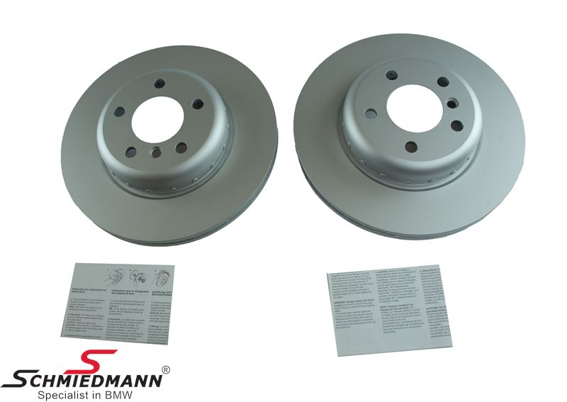 Brake disk front 330X24MM - ventilated, 2 pcs bi-metal version