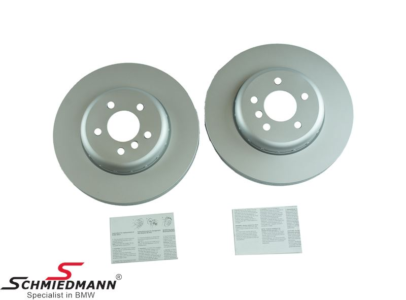 Brake disk front 348X30MM - ventilated, 2 pcs bi-metal version