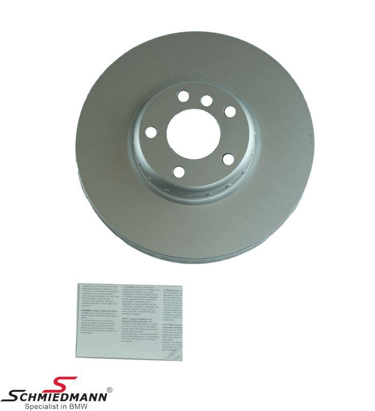 Bremseskive H.-side 348x36MM - ventileret, bi-metal 2 delt