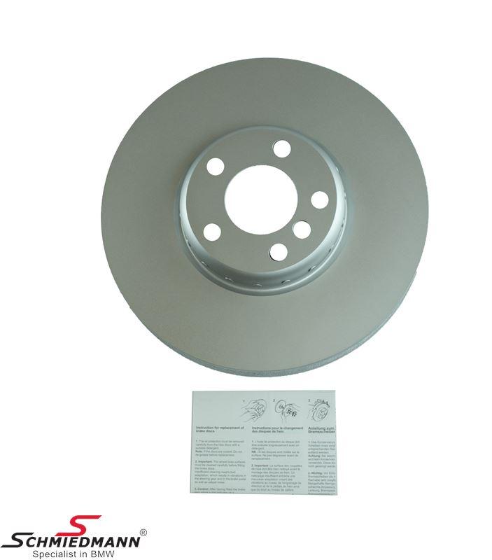 Bremseskive V.-side 348x36MM - ventileret, bi-metal 2 delt