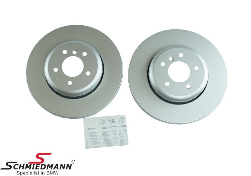 Brake discs rear ventilated 345X24MM, 2 pcs bi-metal version