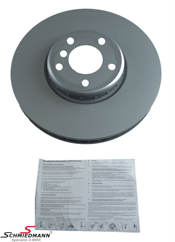 Brake disk L.-side 348x36MM - ventilated, bi-metal 2 pcs, original -ZIMMERMANN- Germany
