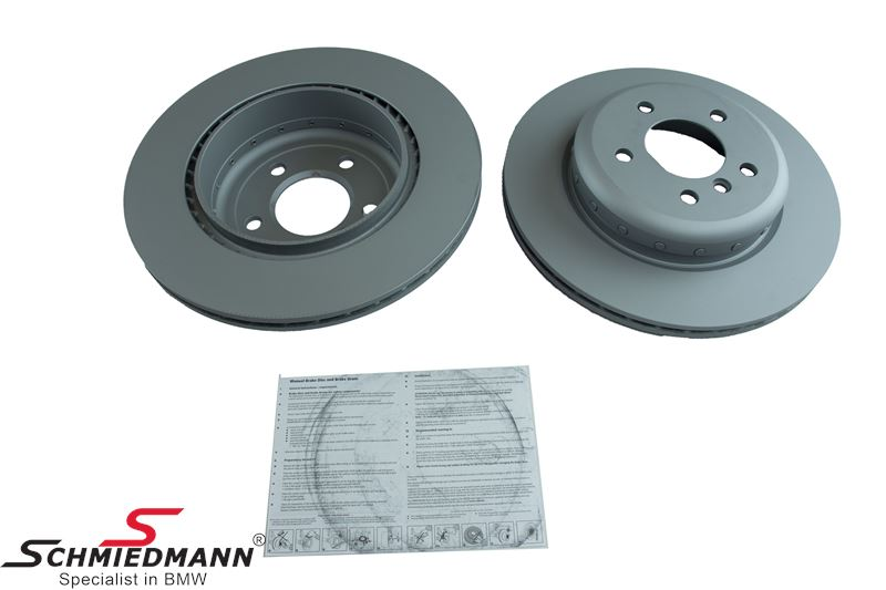 Brake discs rear ventilated 330X20MM, original -ZIMMERMANN- Germany 2 pcs bi-metal version
