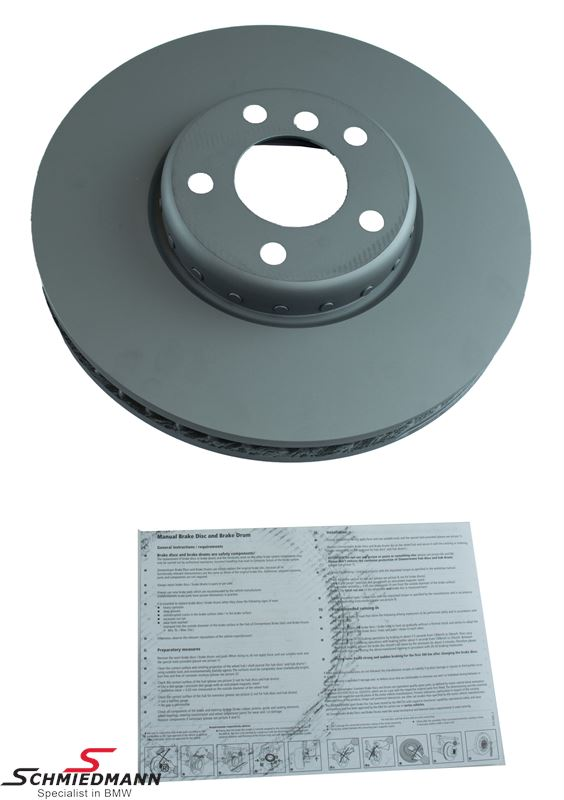 Brake disk R.-side 348x36MM - ventilated, bi-metal 2 pcs, original -ZIMMERMANN- Germany