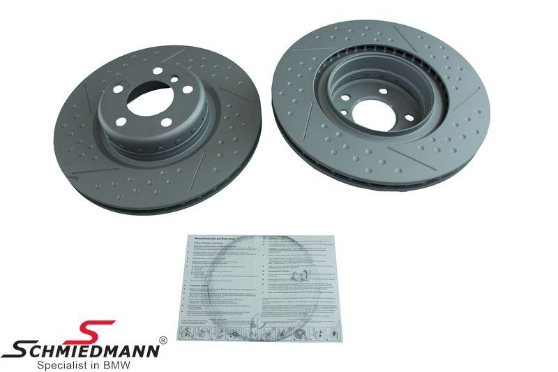 Brake disk 345X24MM fits -BMW Performance- ventilated (Please note price per set), 2pcs bi-metal version