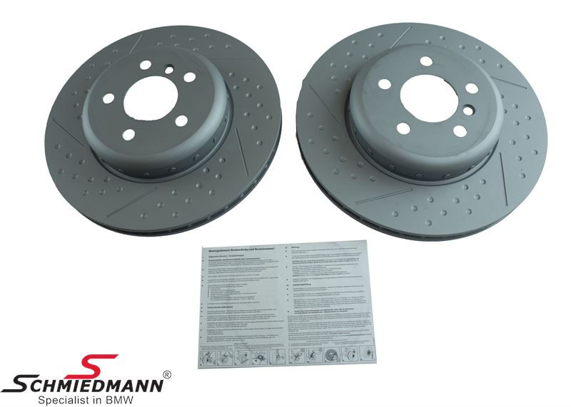Brake disk 345X24MM -For BMW Performance Brakes- ventilated (Please note price per set)