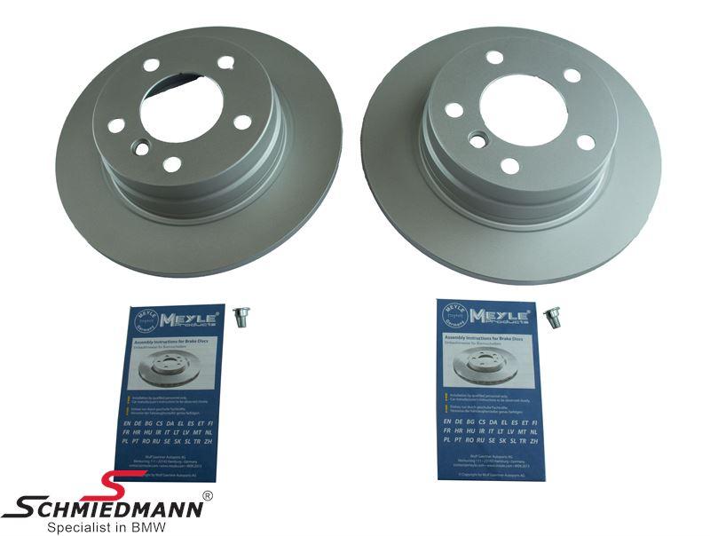 Brake discs rear solid 280X10MM, Meyle original quality