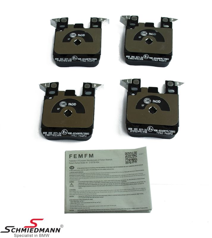 Brakepads rear for BMW ///M Performance systems - Original Hella-Pagid Germany
