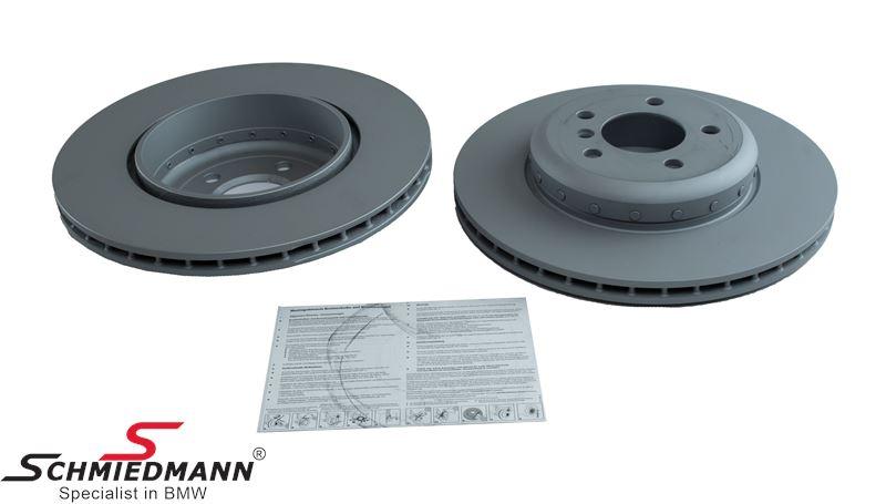 Brake disc set rear ventilated 345X24MM, 2 pcs. bi-metal version - original Zimmermann Germany