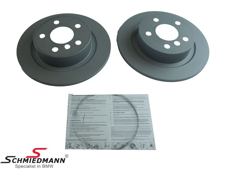 Brake disc set rear 280X10MM – Original Zimmermann Germany