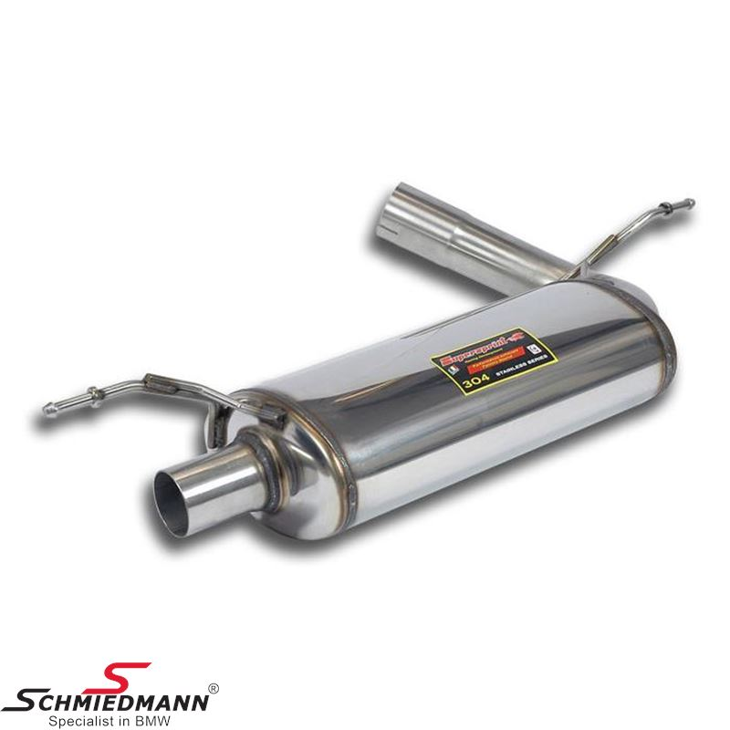 Sport rear silencer Supersprint with round tailpipes L.+R.-side D=100MM