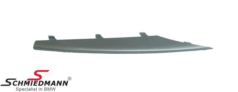 Trim bar for front bumper R.-side, alu matt