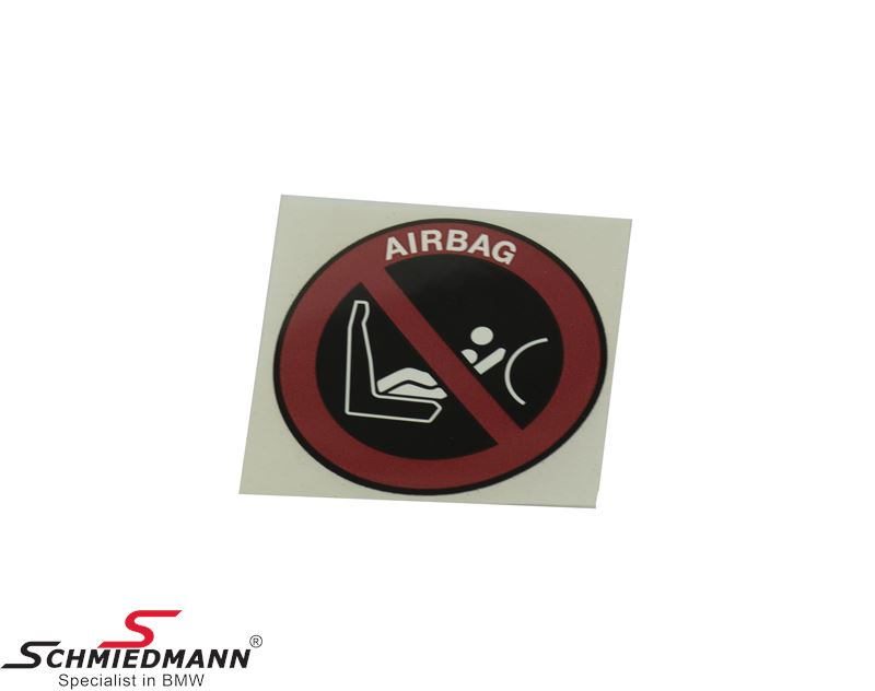 Instruction notice passengers airbag