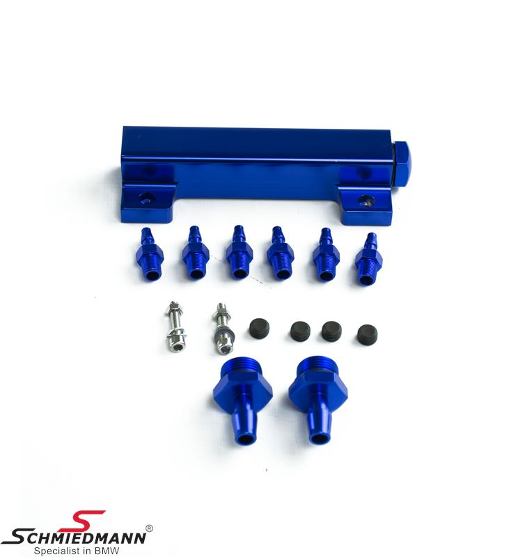 Turbo vacuum station blue, with 6 outputs e.g. for blowoff valve/wastegate/turbo boost control etc., universal