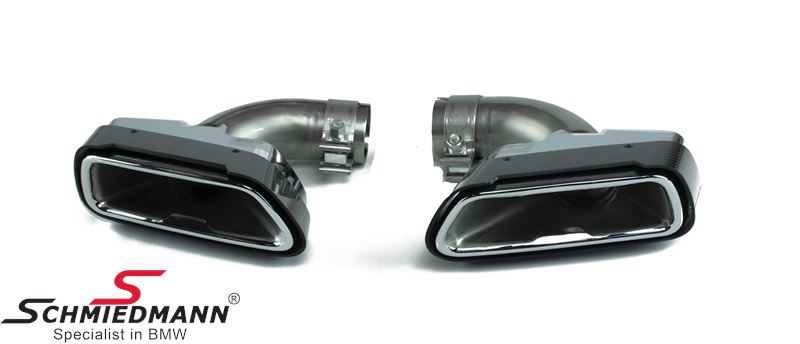 Tailpipe cover set carbon original BMW -///M-Performance-