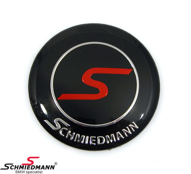 Schmiedmann alloy emblem for the steering wheel D=45,5MM