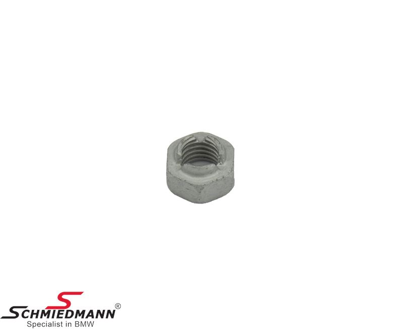 Hex nut self-locking M10-10-ZNS3 for excenter bolt on rear rod arm