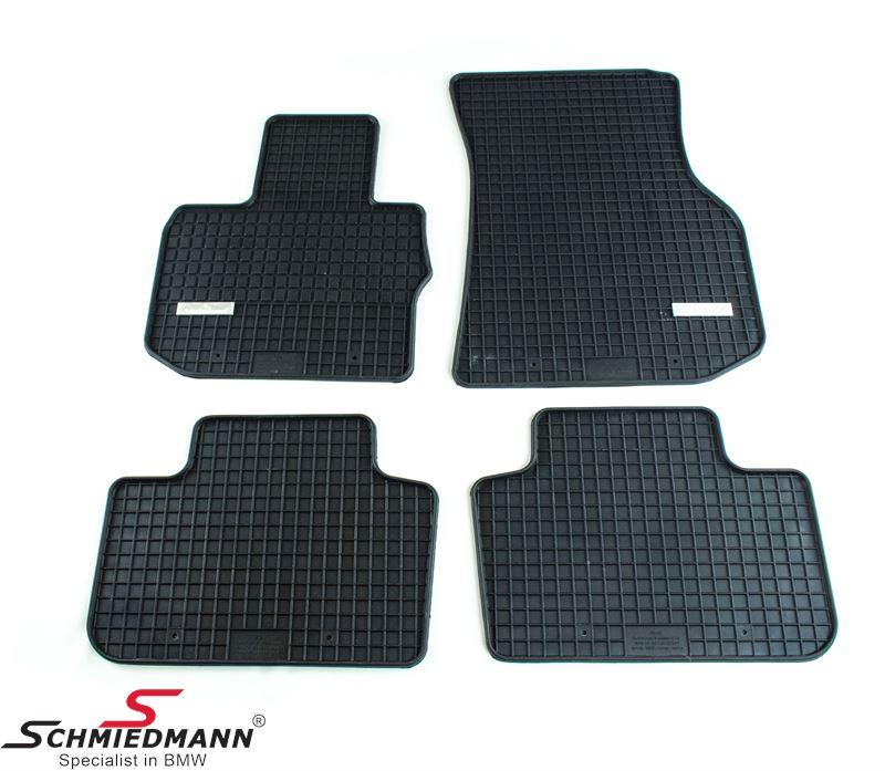 Schmiedmann -Exclusive- rubber floor mat set front/rear black