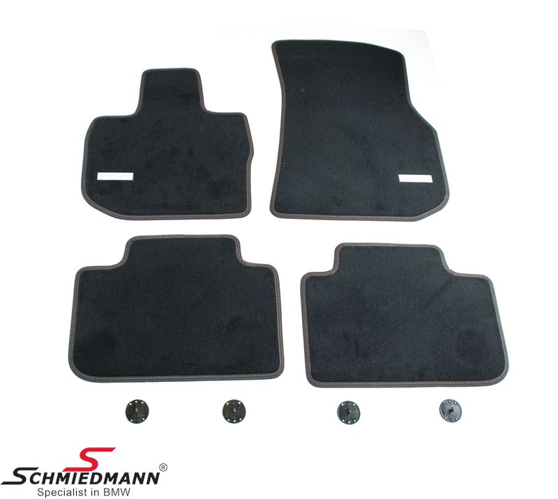 Floormats front/rear original Schmiedmann -Exclusive- extra thick quality