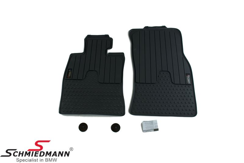 Floormats -All weather- front, -Cooper S- anthrazit - original MINI
