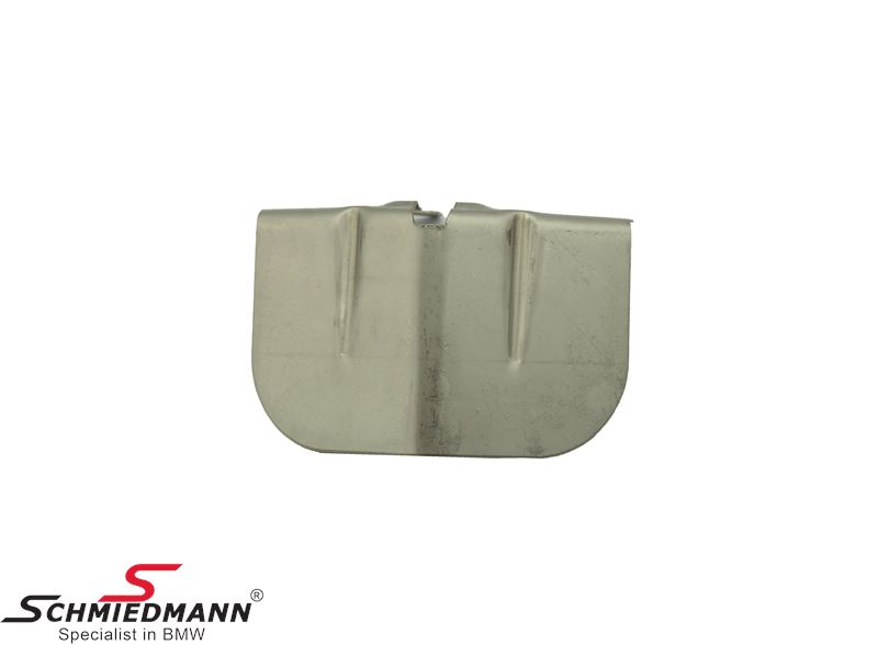 Heat resistant plate for middle silencer