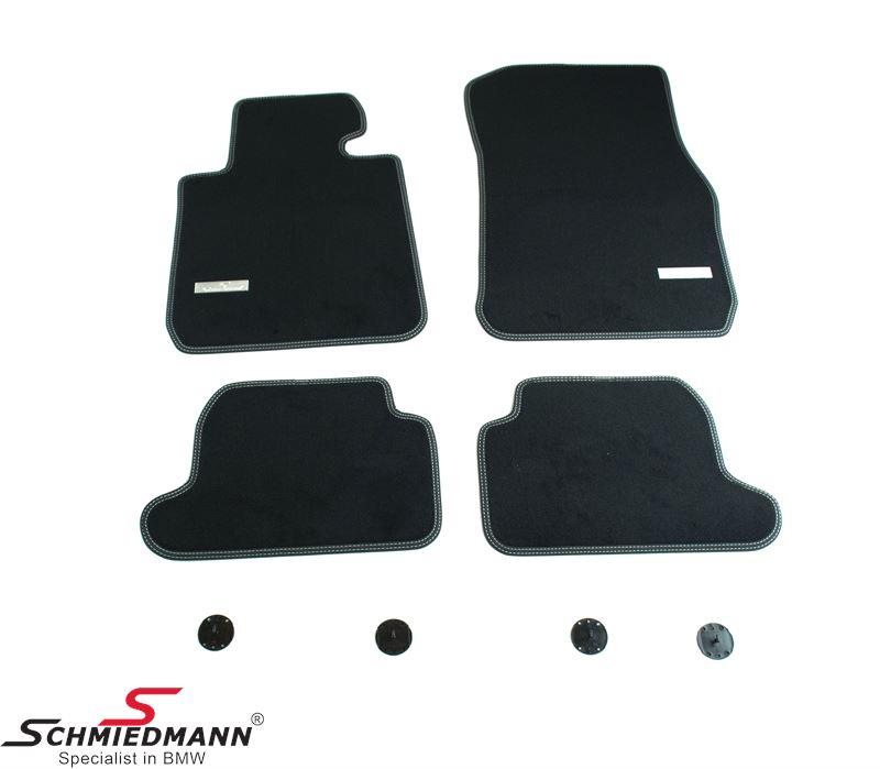 Fussmatten vorne / hinten original Schmiedmann -Exklusiv- schwarz extra dick