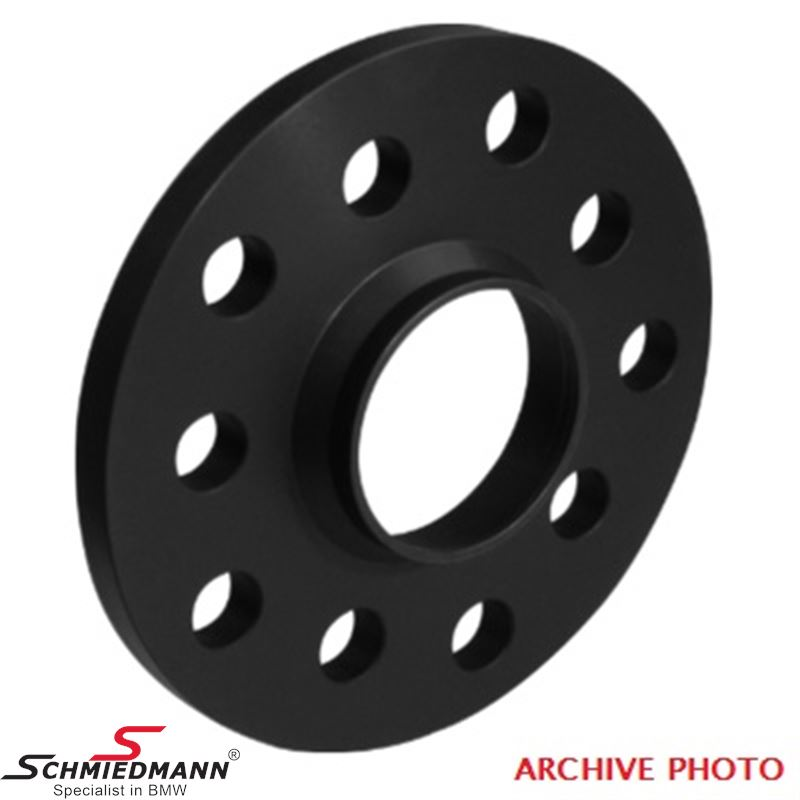 Wheel spacer set (2 pcs.) black anodized alloy, per axle 38MM (19MM each side/wheel), 112/5 14x1,25 center 66,6 not hubcentric - system 2, supplied without bolts