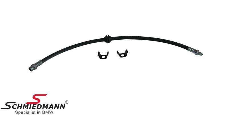 Brake hose front -Schmiedmann HG High Grade- inclusive clips