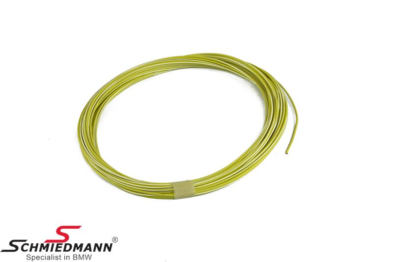 Wire yellow-white 1,00MM²