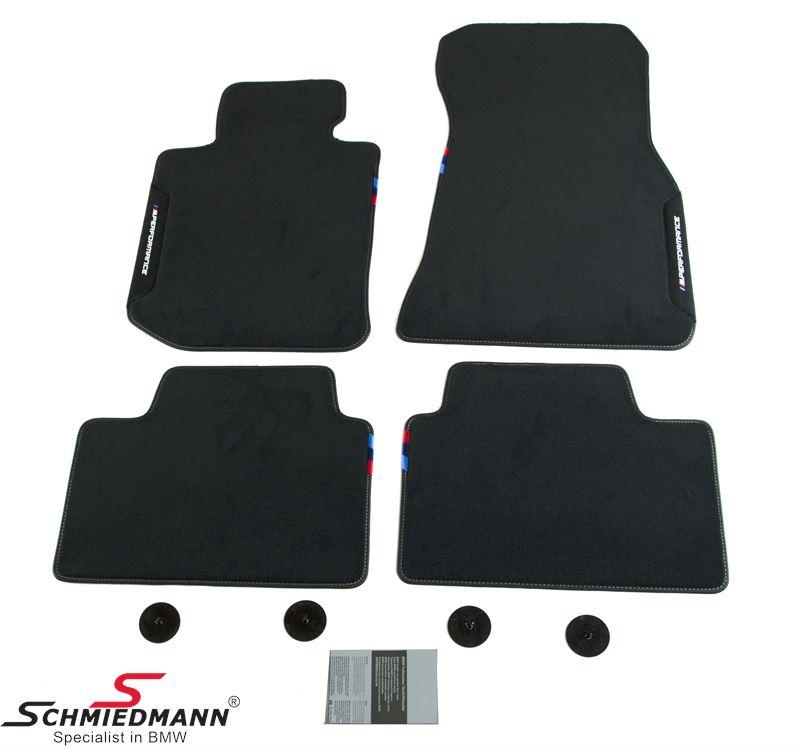 Fussmatten vorne+hinten -BMW ///M-Performance- original BMW