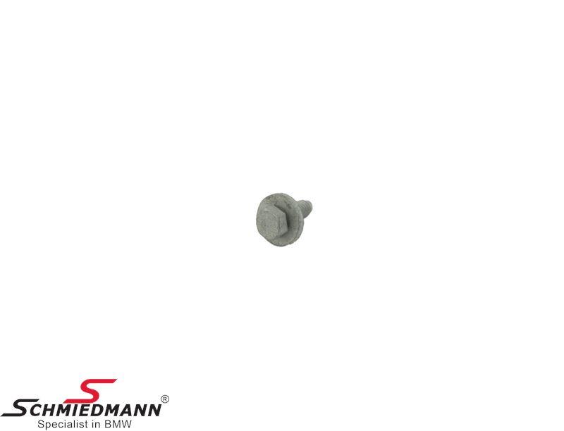 Hex screw med skive M8X22-8.8-ZNS3