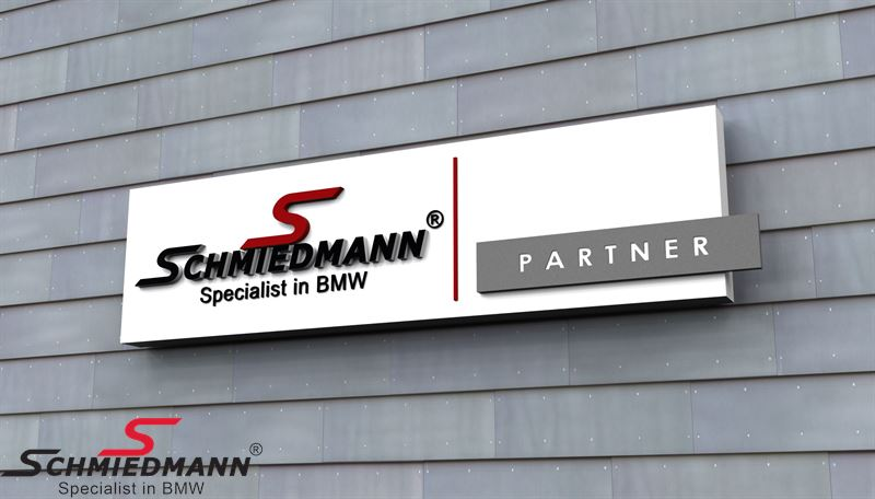 Schmiedmann Partner LED sign 1700x400x80MM for in and outdoor use, 230V
