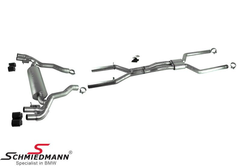 Sport exhaust system ///M-Performance - Middle and rear exhaust with carbon tailpipes - original BMW