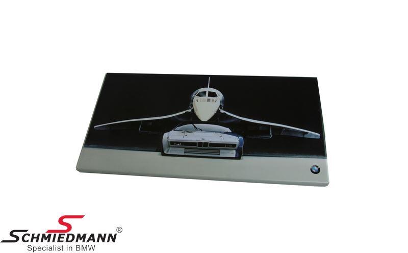 Metal sign -BMW Heritage motorsport- BMW M1 428 x 241 mm