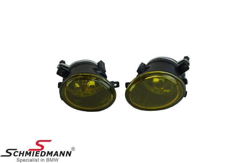 Foglight set yellow HB4 M-Technik inclusive covers (OE ref. 63172228613/14)