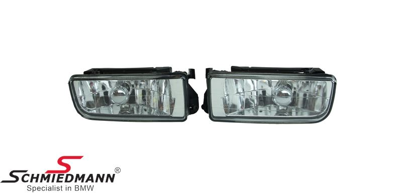 Foglight set H1 clear glass